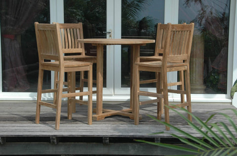 Anderson Teak Outdoors/Patio Bahama Avalon 5-Pieces Round Bar Set