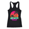 "Image of teelaunch T-shirt Racerback Tank / Black / XS ""BEACH PLEASE"" PREMIUM RACERS TANK-TOP"