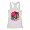 "Image of teelaunch T-shirt Racerback Tank / Heather Grey / XS ""BEACH PLEASE"" PREMIUM RACERS TANK-TOP"