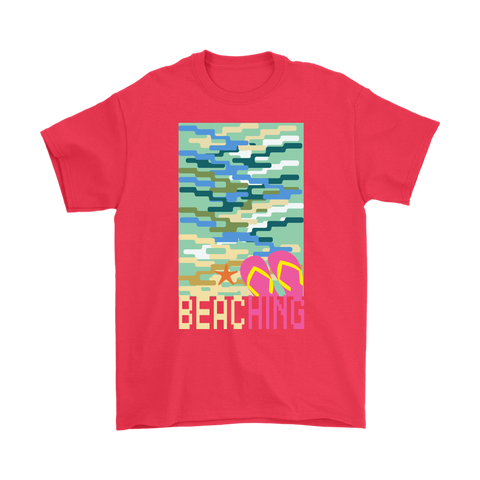 "teelaunch T-shirt Long Sleeve Tee / Black / S ""BEACHING"" PREMIUM T-SHIRT"