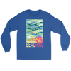 "Image of teelaunch T-shirt Long Sleeve Tee / Blue / S ""BEACHING"" PREMIUM T-SHIRT"