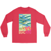 "Image of teelaunch T-shirt Long Sleeve Tee / Red / S ""BEACHING"" PREMIUM T-SHIRT"