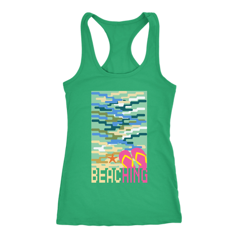 "teelaunch T-shirt Racerback Tank / Kelly Green / XS ""BEACHING"" PREMIUM T-SHIRT"