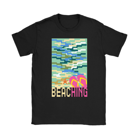 "teelaunch T-shirt Womens T-Shirt / Black / S ""BEACHING"" PREMIUM T-SHIRT"