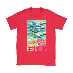 "teelaunch T-shirt Womens T-Shirt / Red / S ""BEACHING"" PREMIUM T-SHIRT"