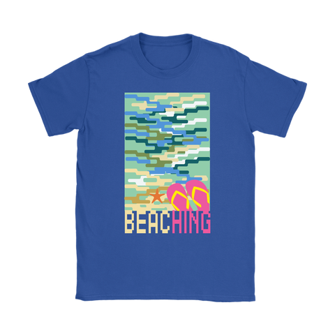 "teelaunch T-shirt Womens T-Shirt / Royal Blue / S ""BEACHING"" PREMIUM T-SHIRT"