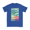 "Image of teelaunch T-shirt Womens T-Shirt / Royal Blue / S ""BEACHING"" PREMIUM T-SHIRT"