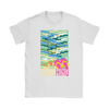 "Image of teelaunch T-shirt Womens T-Shirt / White / S ""BEACHING"" PREMIUM T-SHIRT"
