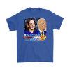 Image of teelaunch T-shirt Gildan Mens T-Shirt / Royal Blue / S Biden and Harris 2020 Graphic Novelty T-Shirt