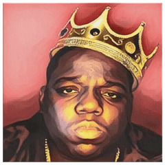 teelaunch Canvas Wall Art 2 8 x 8 Biggie- King of New York