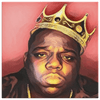 Image of teelaunch Canvas Wall Art 2 8 x 8 Biggie- King of New York