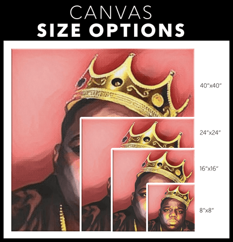 teelaunch Canvas Wall Art 2 Biggie- King of New York
