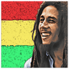 Image of teelaunch Canvas Wall Art 3 8 x 8 Bob Marley Canvas Print Wall Art