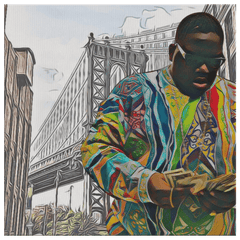 teelaunch Canvas Wall Art 2 8 x 8 Brooklyn's Son - B.I.G. Canvas Portrait Wall Decor