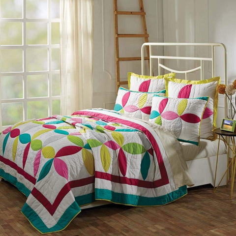 VHC Quilts EVERLY LUXURY KING SET; QUILT-120x105 2 SHAMS-21x37