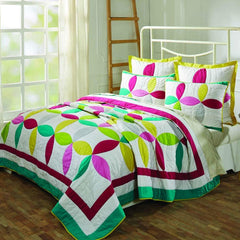 VHC Quilts EVERLY QUEEN SET; QUILT 90WX90L-2 SHAMS 21X27