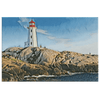 Image of teelaunch Canvas Wall Art 3 8 x 12 Lighthouse On The Coast