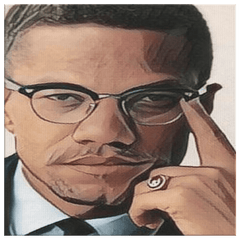 teelaunch Canvas Wall Art 2 8 x 8 Malcolm X Wall Art Canvas Print