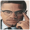 Image of teelaunch Canvas Wall Art 2 8 x 8 Malcolm X Wall Art Canvas Print