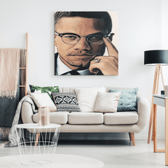 Malcolm X Wall Art Canvas Print