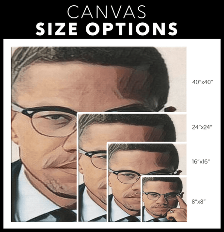 teelaunch Canvas Wall Art 2 Malcolm X Wall Art Canvas Print