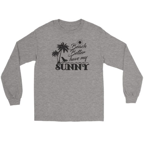 "teelaunch T-shirt Long Sleeve Tee / Sports Grey / S Premium ""HAVE MY SUNNY"" Women's Fashion Top"