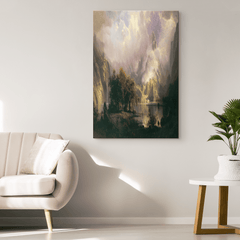 Scenic Forest Portrait - Canvas Wall Art