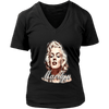 Image of teelaunch T-shirt District Womens V-Neck / Black / S Womens V-Neck T-Shirt - Marilyn