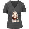 Image of teelaunch T-shirt District Womens V-Neck / Charcoal / S Womens V-Neck T-Shirt - Marilyn