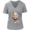 Image of teelaunch T-shirt District Womens V-Neck / Heathered Nickel / S Womens V-Neck T-Shirt - Marilyn