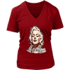 Image of teelaunch T-shirt District Womens V-Neck / Red / S Womens V-Neck T-Shirt - Marilyn