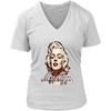 Image of teelaunch T-shirt District Womens V-Neck / White / S Womens V-Neck T-Shirt - Marilyn
