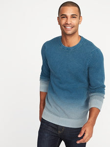 Garment-Dyed Textured Sweater