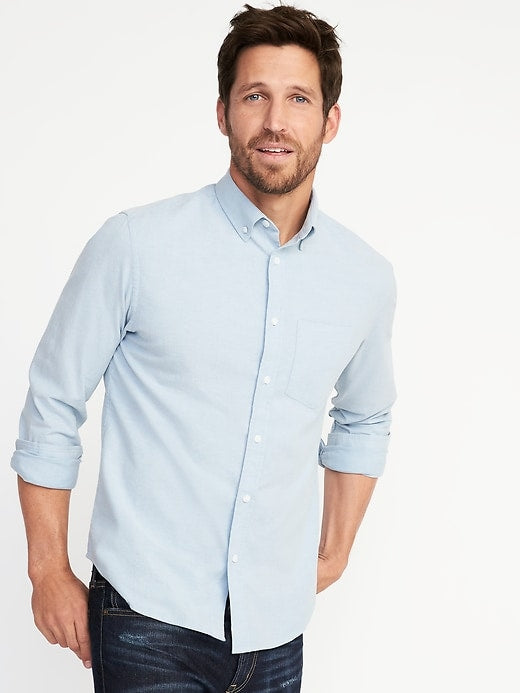 Slim-Fit Built-In Flex Everyday Oxford Shirt
