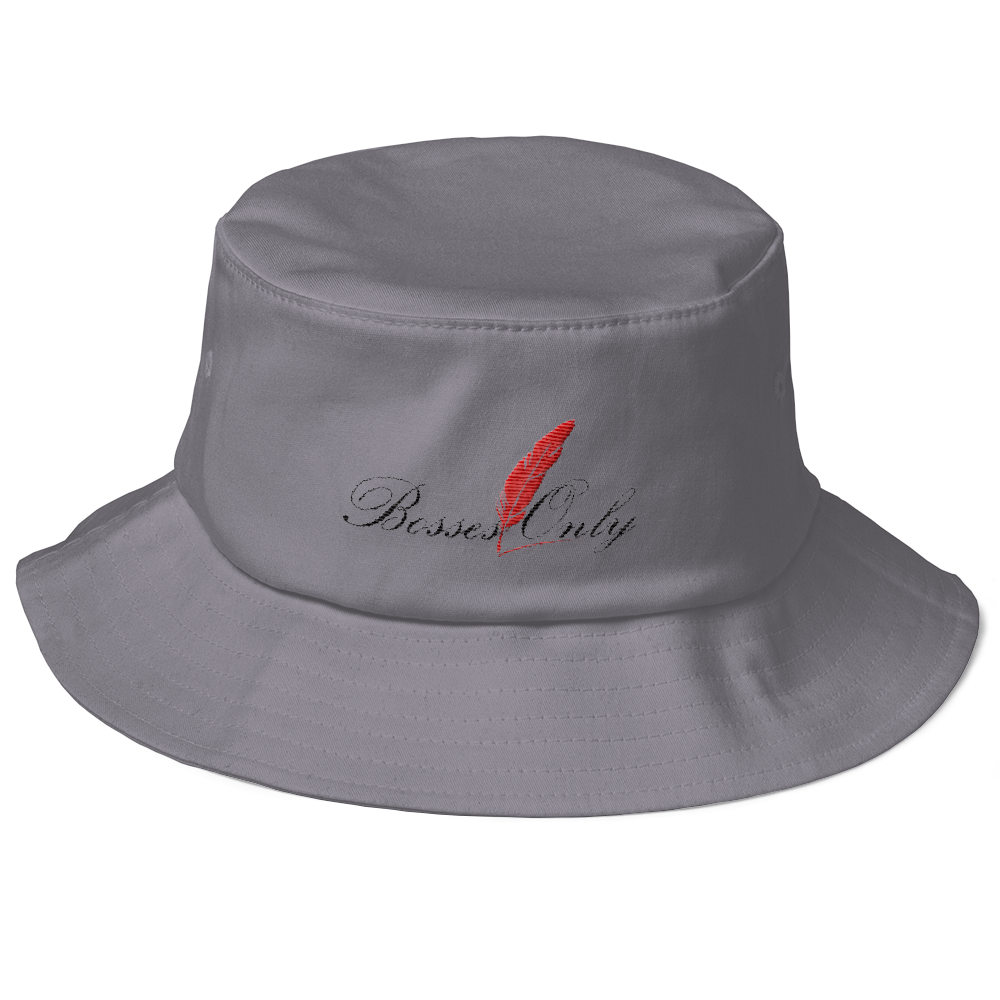 c50c3bf0ecb Bosses Only Ink Grey Black Red Flexfit 5003 Bucket Hat – Bosses Only ...