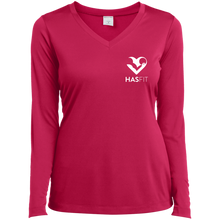 HASfit Performance Layer - Dri-Fit Ladies' Heather V-Neck Long Sleeve Shirt