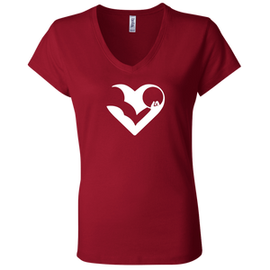 HASfit All Heart - Premium Ladies V-Neck T-Shirt