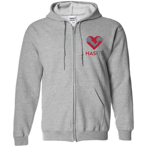 HASfit All Day - Embroidered Zip Up Hooded Sweatshirt
