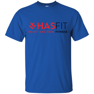HASfit Workout Warrior - Unisex Loose Fitting Cotton Rugged T-Shirt