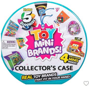 5 Surprise Mini Brands Collectors Case Toy Version by Zuru (Includes 2 Mini Toys)