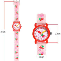 Watches for kids - Cherries dimensions