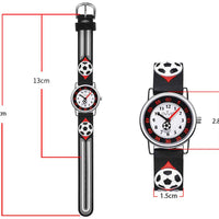 Watches for kids - Soccer (black) dimensions'