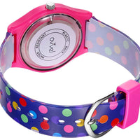 Watches for kids - Colorful Polka Dot back