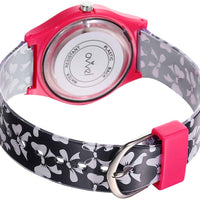 Watches for kids - Black and Pink Bows back