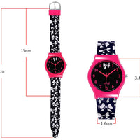 Watches for kids - Black and Pink Bows dimensions