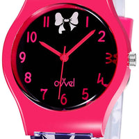 Watches for kids - Black and Pink Bows