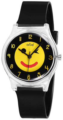 Watches for kids - Emoji Black & Yellow