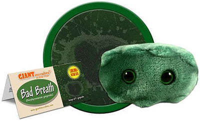Giant Microbes Plush - Bad Breath (Porphyromonas Gingivalis)