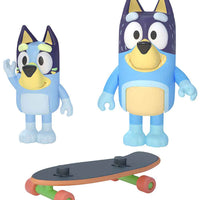Bluey Skateboarding: Bluey & Dad Figure 2-Pack in action