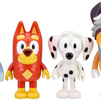 Bluey School Pack Mini Figure 4-Pack - Bluey, Rusty, Chloe & Calypso in action